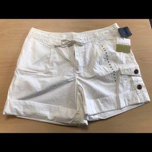 NWT Liz Claiborne White utility shorts -Sz 12